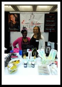 Beauty Guru, Kahua Parker and Salon Owner/Educator Eunice Johnson at SIBE 2015 Booth #416